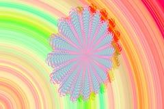 Het abstracte 3D beeld met een kleurrijke achtergrond van kleurrijke gevormde fractal elementen in de vorm van een Madeliefje blo vector illustratie