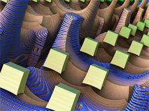Het abstracte 3D teruggeven als achtergrond Stock Afbeelding