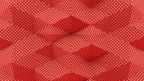 Het abstracte 3D Teruggeven Dots With Red Background stock afbeelding