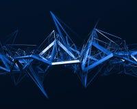 Het abstracte 3D Teruggeven van Chaotische Oppervlakte Royalty-vrije Stock Afbeelding
