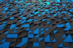 Het abstracte 3d teruggeven van futuristische oppervlakte met Stock Afbeelding