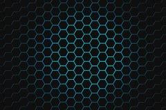 Het abstracte 3d teruggeven van futuristische oppervlakte met zeshoeken donkergroene achtergrond sc.i-FI stock afbeelding