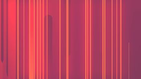 Het abstracte 3d teruggeven van gekleurde geometrische vormen Computer geproduceerde lijnanimatie Geometrisch lijnenpatroon 4k UH vector illustratie