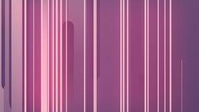 Het abstracte 3d teruggeven van gekleurde geometrische vormen Computer geproduceerde lijnanimatie Geometrisch lijnenpatroon 4k UH stock illustratie
