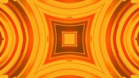 Het abstracte 3d teruggeven van gekleurde geometrische vormen Computer geproduceerde lijnanimatie Geometrisch motiepatroon 4k UHD vector illustratie