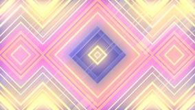 Het abstracte 3d teruggeven van gekleurde geometrische vormen Computer geproduceerde lijnanimatie Geometrisch motiepatroon 4k UHD stock illustratie