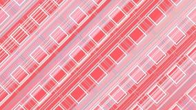 Het abstracte 3d teruggeven van gekleurde geometrische vormen Computer geproduceerde lijnanimatie Geometrisch motiepatroon 4k UHD royalty-vrije illustratie