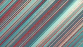 Het abstracte 3d teruggeven van gekleurde geometrische vormen Computer geproduceerde lijnanimatie Geometrisch patroon 4k UHD royalty-vrije illustratie