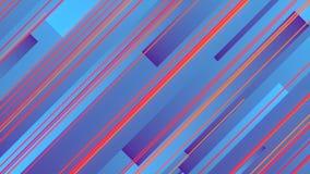 Het abstracte 3d teruggeven van gekleurde geometrische vormen Computer geproduceerde lijnanimatie Geometrisch patroon 4k UHD stock illustratie