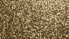 Het abstracte 3d teruggeven van gouden oppervlakte Futuristische Achtergrond Stock Foto