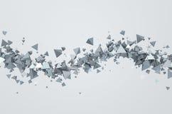 Het abstracte 3D Teruggeven van Vliegende Driehoeken Stock Afbeeldingen