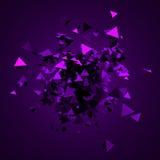 Het abstracte 3D Teruggeven van Vliegende Driehoeken Royalty-vrije Stock Fotografie