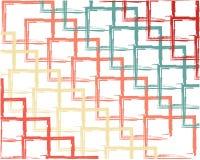 Het abstracte de kwaststreekblauw van de achtergrondpatroonkleur, kleurt vierkant op witte achtergrond stock illustratie