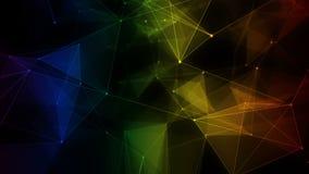 Het abstracte digitale informatienet van de achtergrond kleurrijke iriserende regenboogveelhoek vector illustratie