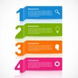 Het abstracte document element van het de optiesontwerp van het infographicsaantal vector illustratie