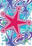 Het abstracte Doel Active_eps van de Klap van Sterren Stock Afbeelding