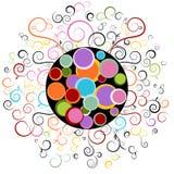 Het abstracte Element van het Ontwerp van de Werveling Stock Fotografie