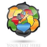 Het abstracte embleem van de bloem Royalty-vrije Stock Fotografie