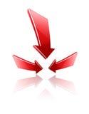 Het abstracte embleem van het ontwerpelement. Stock Foto