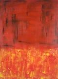 Het abstracte Expressionistische schilderen in Rood Royalty-vrije Stock Afbeelding