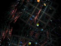 Het abstracte fractal dreamlike elegante de vakantie van de meditatie fijne kaart creatieve teruggeven trillend, ontwerpmalplaatj stock illustratie