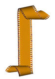 Het abstracte frame van diafilms dat op wit wordt geïsoleerdd Stock Afbeelding