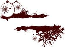 Het abstracte frame van Kerstmis Stock Afbeelding
