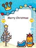 Het abstracte Frame van Kerstmis Stock Foto