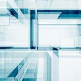 Het abstracte futuristische 3d teruggeven Stock Foto