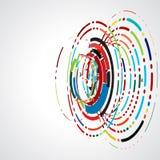 Het abstracte futuristische grafische malplaatje van de wervelingslijn voor het collectieve bedrijfsconcept van technologie en royalty-vrije illustratie
