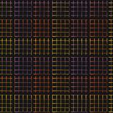 Het abstracte Geo-Netpatroon Vector Zwarte Gloeien vector illustratie