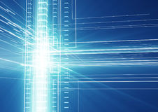 Het abstracte geometrische element van het technologieontwerp Royalty-vrije Stock Afbeelding