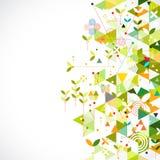 Het abstracte geometrische malplaatje gaat groen concept voor collectieve zaken of media, vector vector illustratie