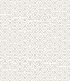 Het abstracte geometrische naadloze bloemenpatroon van het pentagoonnet royalty-vrije illustratie