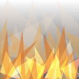 Het abstracte geometrische ontwerp van de vlamdriehoek royalty-vrije illustratie