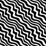 Het abstracte geometrische zwart-witte grafische patroon van het ontwerpweefsel Stock Foto