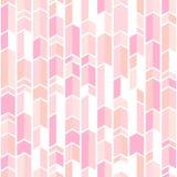 Het abstracte geopatroon bloost binnen roze kleuren, patroon van de pastelkleur het roze chevron royalty-vrije illustratie