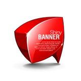 Het abstracte Glanzende Rood van de Banner van het Glas Stock Illustratie