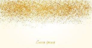 Het abstracte goud schittert achtergrond Glanzende fonkelingen voor kaart royalty-vrije illustratie