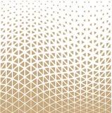 Het abstracte gouden geometrische halftone patroon van het driehoeksontwerp Stock Fotografie
