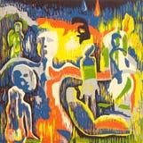 Het abstracte Grafische Art. van de Druk Royalty-vrije Stock Afbeeldingen