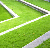 Het abstracte gras van Thailand in de tempel Bangkok Azië Stock Fotografie