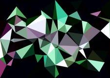 Het abstracte groene purpere behang van kleuren glanzende lage polybokeh Royalty-vrije Stock Fotografie