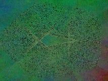 Het abstracte groene rode blauwe puntenplasma schilderen Stock Fotografie