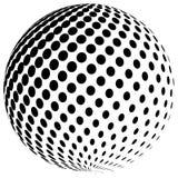 Het abstracte halftone ontwerp van het het symboolpictogram van het bolembleem Royalty-vrije Stock Afbeelding