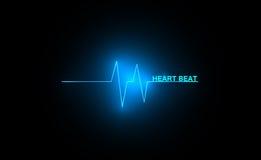 Het abstracte hart slaat cardiogram Royalty-vrije Stock Fotografie