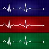 Het abstracte hart slaat cardiogramillustratie Stock Foto's