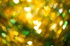 Het abstracte hart vormde onscherpe D Royalty-vrije Stock Foto's
