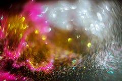 Het abstracte heldere licht als gekleurd romantisch defocused lichten Stock Foto