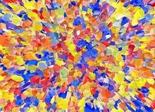 Het abstracte Heldere Multicolored 3d deeltje barstte Achtergronden vector illustratie